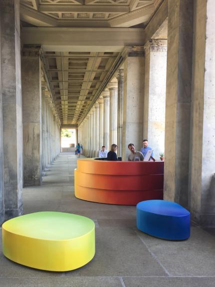 Wolfgang Flad, art in building, bar, furniture, Staatliche Museen zu Berlin